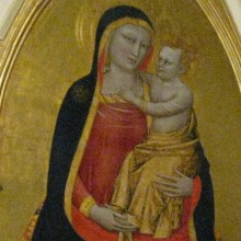Virgin and Baby Painting