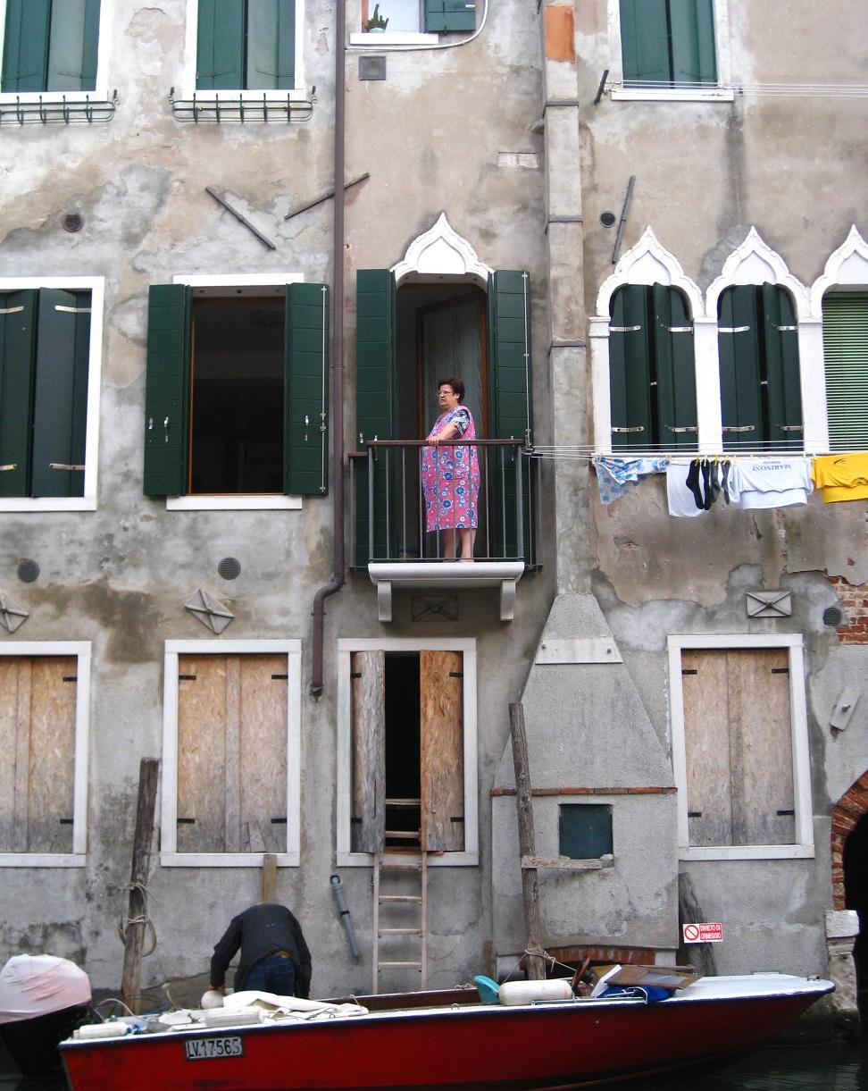 Ladder into Venetian House