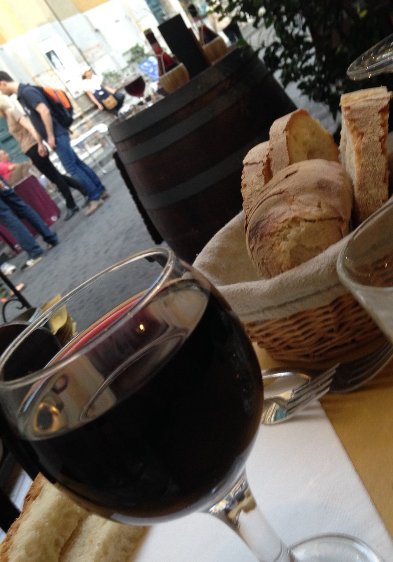 Bread and Wine in Rome
