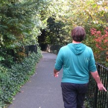 Walking through London