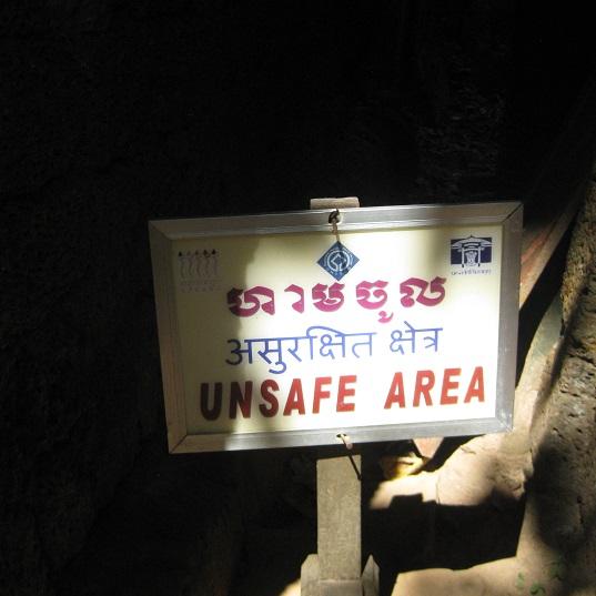 Siem Reap Safety Sign