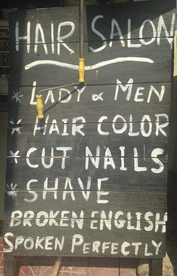 Broken English Sign