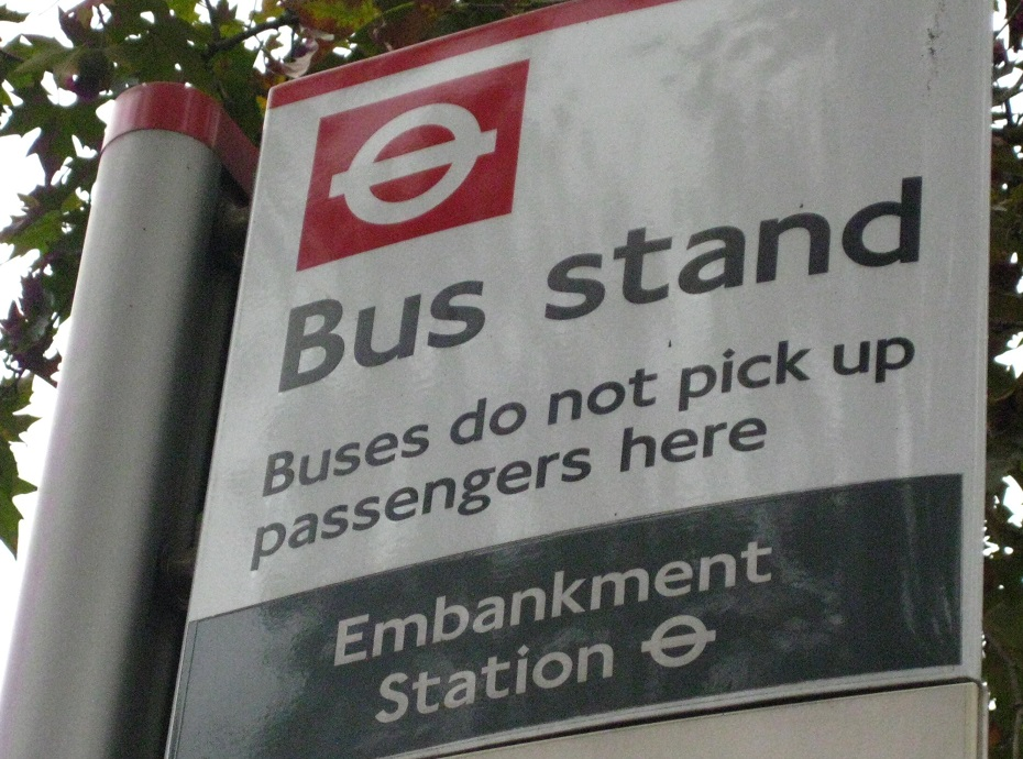 Bus Stand Sign