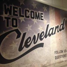 Cleveland Airport Sign
