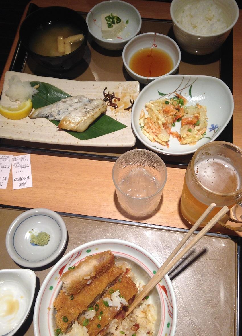 Japanese Fast Food Meal