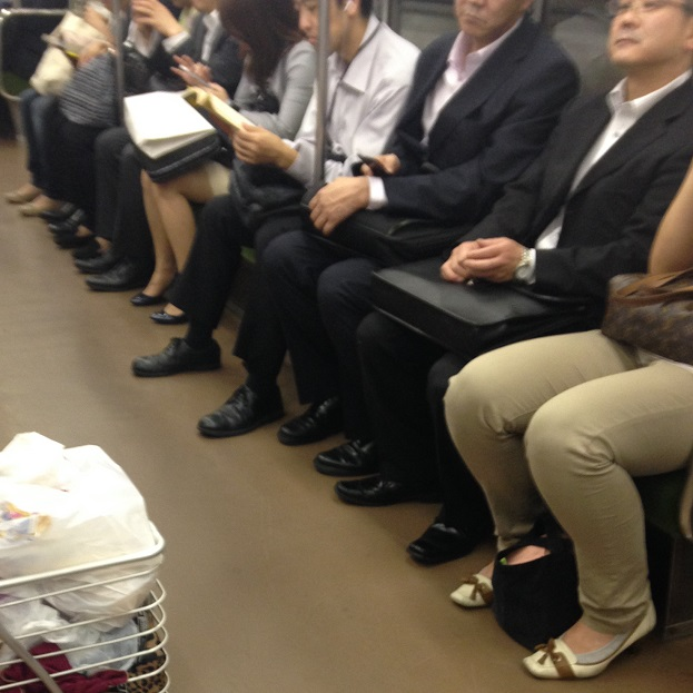 Shoes on the Japanese Subway